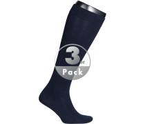 Herren Socken Kniestrümpfe Baumwoll-Mix navy blau
