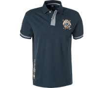 Polo-Shirt Polo Classic Fit Baumwolle navy