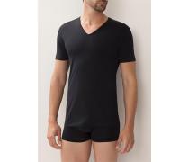 T-Shirt Baumwoll-Stretch , dunkelblau oder weiß