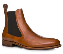 Schuhe Chelsea Boots Kalbsleder cognac