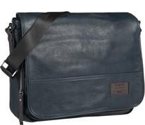 Tasche Messenger Bag Microfaser petrol
