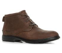 Schuhe Schnürstiefeletten Leder mittelbraun