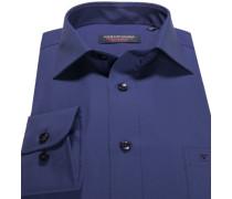 Hemd Comfort Fit Strukturgewebe königsblau
