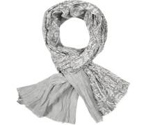 Herren  Wendeschal Baumwolle gestreift-floral gemustert grau