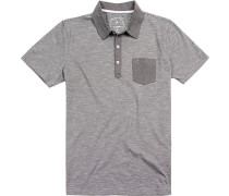 Polo-Shirt Modern Fit Baumwoll-Jersey -weiß gestreift