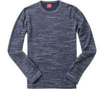 Pullover Casual Body Fit Baumwolle-Schurwolle meliert