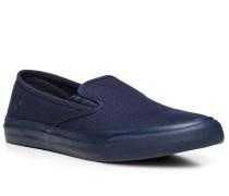 Herren Schuhe Slip Ons Canvas dunkelblau blau,blau