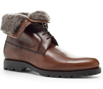 Schuhe Stiefelette Kalbleder glatt cuoio