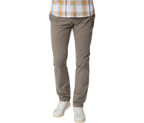 Chino-Hose Regular Fit Baumwolle graugrün