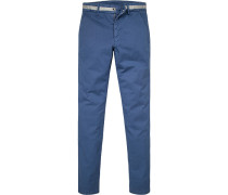 Hose Chino Extra Slim Fit Baumwolle königsblau
