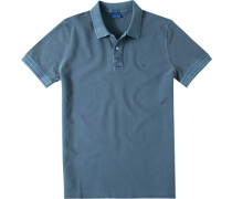 Herren Polo-Shirt Polo Modern Fit Baumwoll-Piqué rauchblau meliert