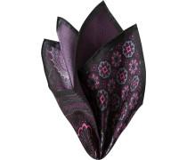 Herren Accessoires  Einstecktuch Seide schwarz-fuchsia gemustert rosa