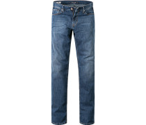 Jeans, Regular Fit, Baumwoll-Stretch,