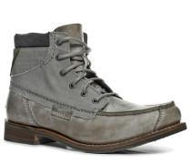 Herren Schuhe Schnürstiefeletten Rindleder hellgrau