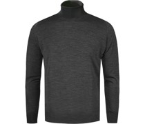 Pullover Slim Fit Merino Extrafine anthrazit meliert