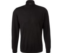 Herren Pullover extrafeine Merinowolle schwarz