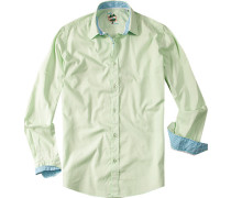 Hemd, Slim Fit, Baumwolle, hellgrün