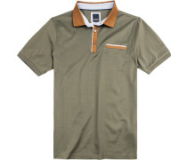 Polo-Shirt Polo Modern Fit Baumwoll-Jersey doppelt mercerisiert oliv