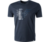 T-Shirt, Baumwolle, navy