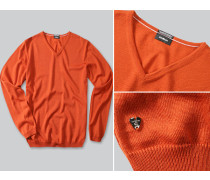 Pullover Merinowolle rost