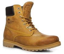 Schuhe Schnürstiefeletten Kalbleder camel