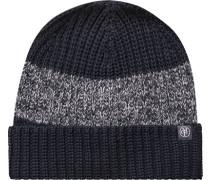 Mütze Organic Baumwolle marineblau-grau gestreift