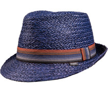 Herren   Hut Stroh marineblau