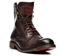 Schuhe Stiefelette Leder dunkelbraun ,grau
