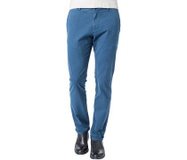 Hose Chino Regular Fit Baumwolle capriblau