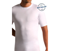 Herren T-Shirt Mako-Baumwolle weiss weiß