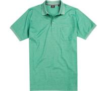 Polo-Hemd, Baumwoll-Piqué, smaragd meliert
