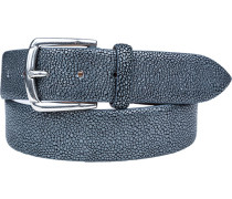 Herren Gürtel blaugrau Breite ca. 3,5 cm blau,grau