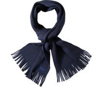 Herren  Schal Wolle marine blau