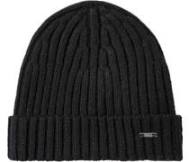 Herren   Mütze Kaschmir-Wolle schwarz