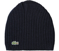 Mütze Schurwolle marineblau