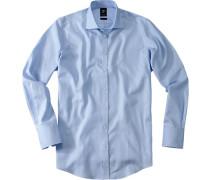 Hemd, Smart Cut, Baumwolle, hellblau