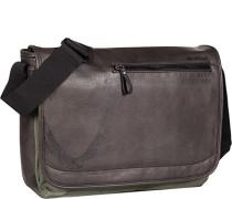 Tasche Messenger Bag Kunstleder dunkelbraun