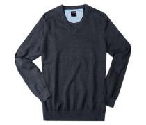 Pullover Modern Fit Baumwolle anthrazit