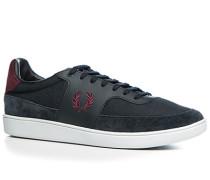 Herren Schuhe Sneaker Leder-Nylon-Mix navy blau,blau
