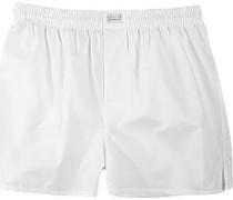 Herren Unterwäsche Boxer-Shorts Popeline weiß