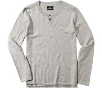 Pullover Baumwoll-Mix hellgrau meliert