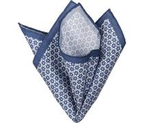 Accessoires . Einstecktuch Baumwolle dunkelblau gemustert