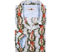 Hemd, Baumwolle, multicolor gemustert