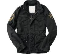Herren Jacke Field-Jecket Baumwolle schwarz schwarz,schwarz