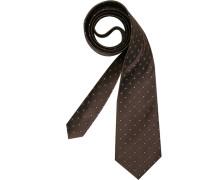 Herren Krawatte  braun,weiß