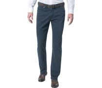 Herren Jeans Regular Fit Baumwoll-Stretch dunkelblau