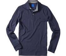 Polo-Shirt Polo Regular Fit Baumwoll-Jersey marineblau
