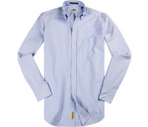 Hemd Regular-Fit Oxford hellblau-weiß meliert
