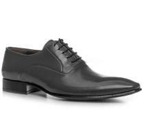 Herren Schuhe Oxfords Leder dunkelgrau