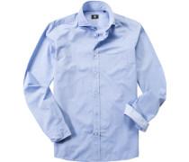 Hemd Baumwolle hellblau gemustert